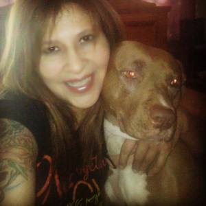 Cindy L and her gorgeous dog are Ambassadors for Puppy Doe.